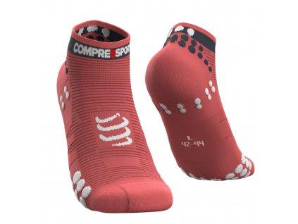 pro racing socks v3 0 run low coral t2