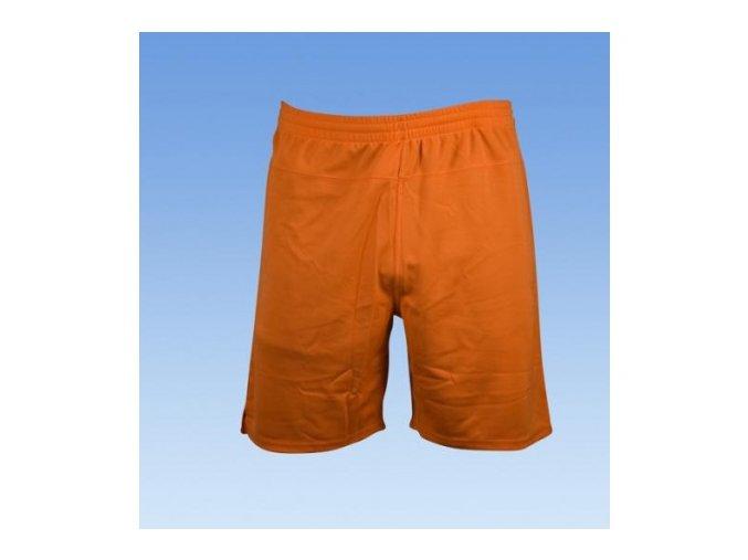 Fotbalové šortky bez loga - oranžová
