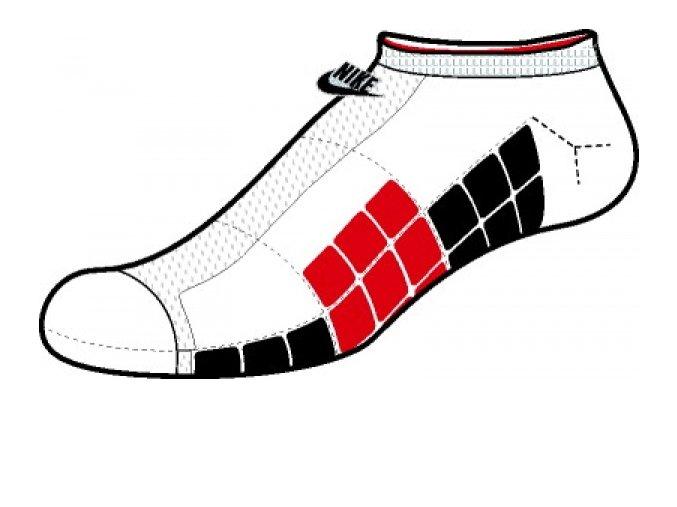 Ponožky Nike NSW WAFFLE NO SHOW SX3871 160