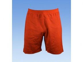 Fotbalové šortky bez loga - rudá