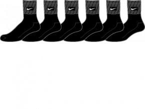 Ponožky Nike NEW 6PPK CTN HF-CUSH QTR (S-XL SX3869 001