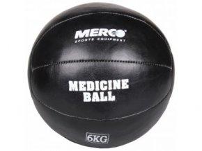 Medicinální míč Black Leather / medicinbal