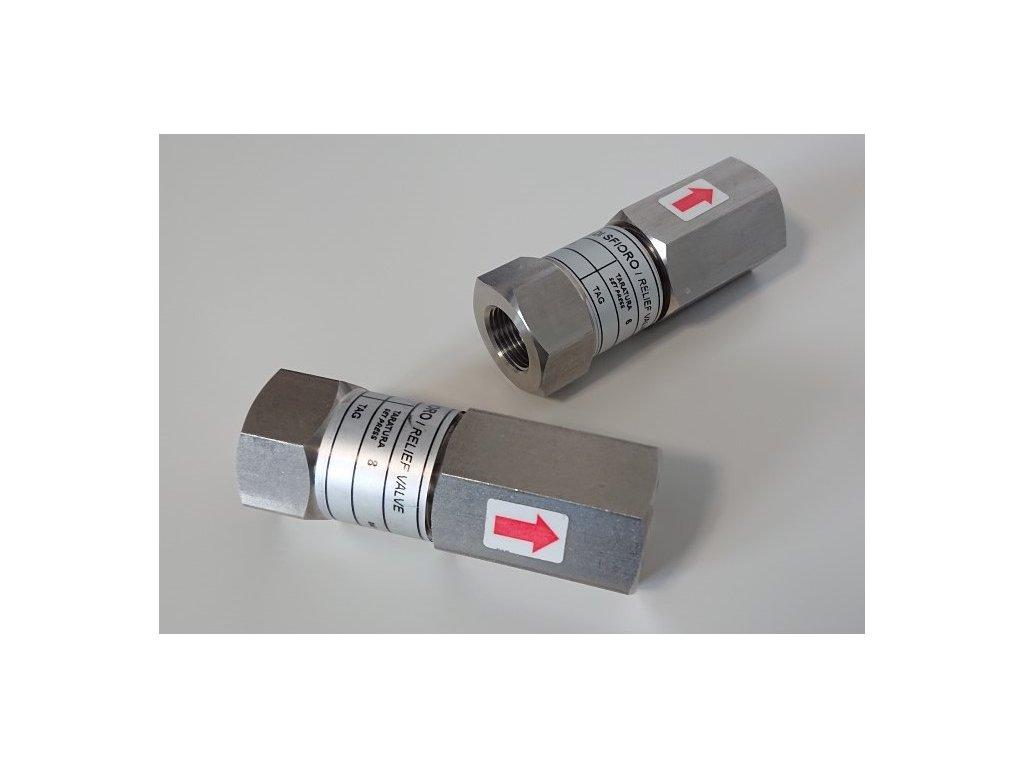 pojistny ventil nerezovy V200
