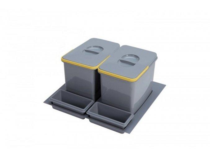 Systém košů Sinks PRACTIKO 600 pro vložení do zásuvky 2x 15 L + misky