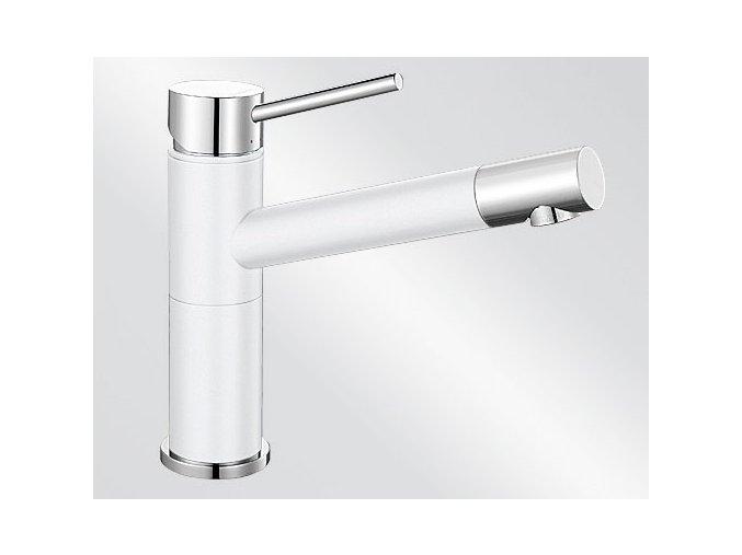 Kuchyňská vodovodní baterie Blanco ALTA Compact silgranit bílá/chrom lesk 515317
