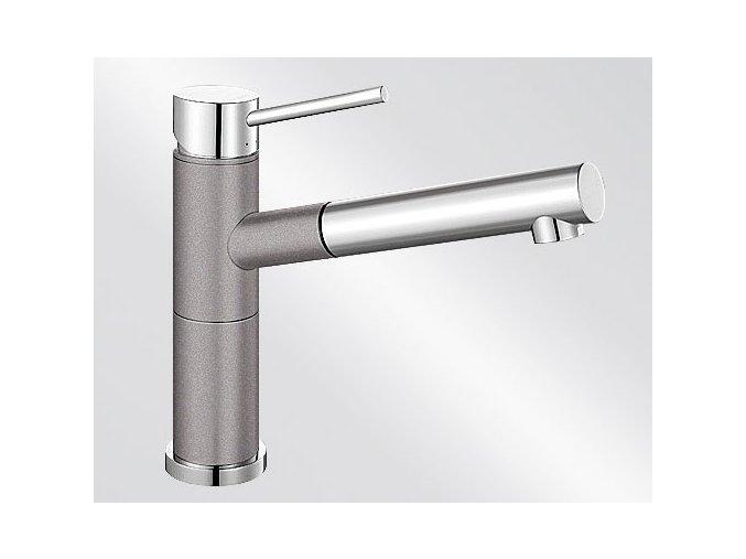 Kuchyňská vodovodní baterie Blanco ALTA-S Compact silgranit aluminium/chrom lesk 515326