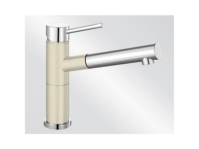 Kuchyňská vodovodní baterie Blanco ALTA-S Compact silgranit jasmín/chrom lesk 515328