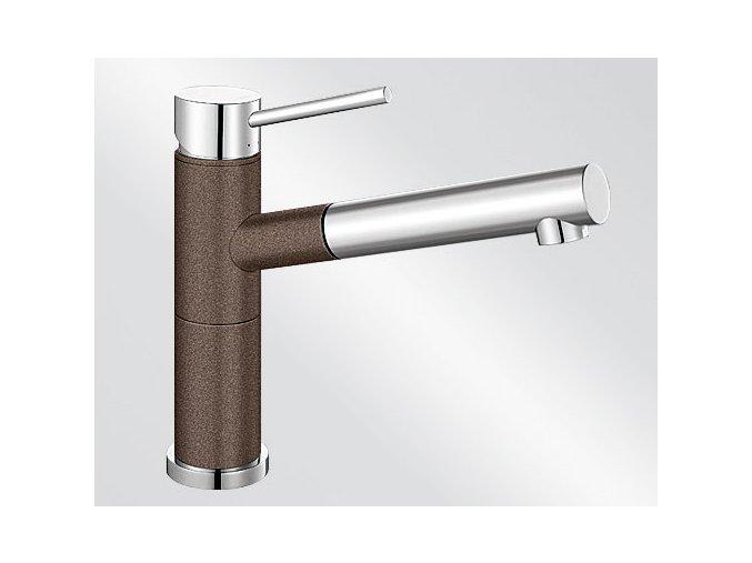 Kuchyňská vodovodní baterie Blanco ALTA-S Compact silgranit kávová/chrom lesk 515334