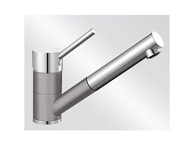 Kuchyňská vodovodní baterie Blanco ANTAS-S HD silgranit aluminium/chrom lesk 515349