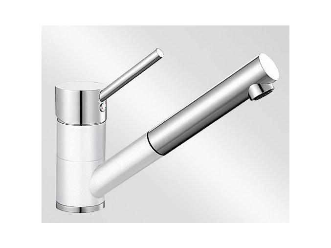 Kuchyňská vodovodní baterie Blanco ANTAS-S HD silgranit bílá/chrom lesk 515350