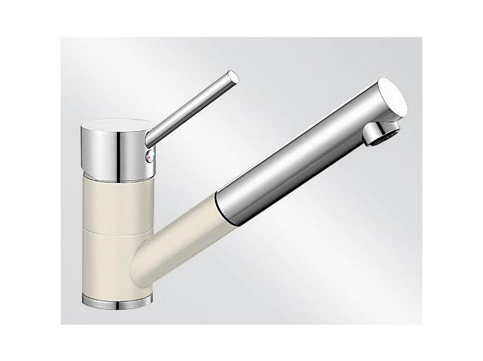 Kuchyňská vodovodní baterie Blanco ANTAS-S HD silgranit jasmín/chrom lesk 515351