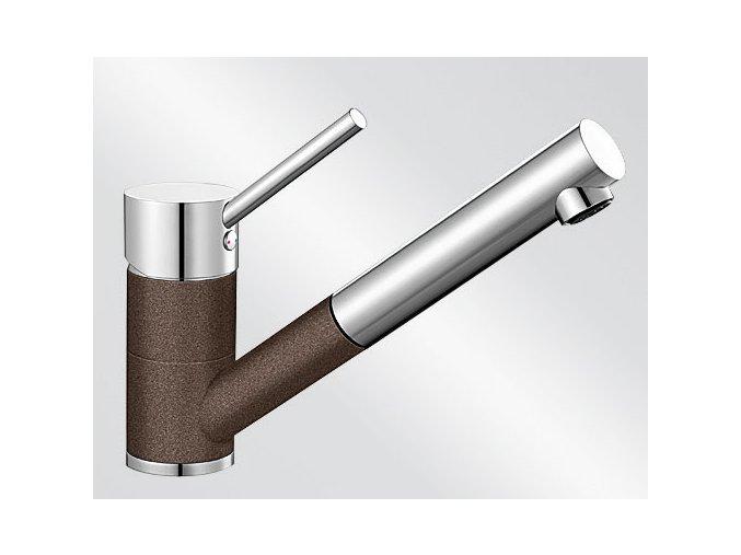 Kuchyňská vodovodní baterie Blanco ANTAS-S HD silgranit kávová/chrom lesk 515357