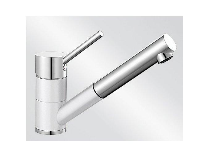 Kuchyňská vodovodní baterie Blanco ANTAS-S Keramika-look bílá lesk/chrom 516069