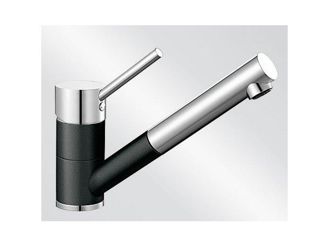 Kuchyňská vodovodní baterie Blanco ANTAS-S Keramika-look černá/chrom 516075