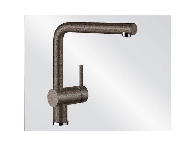 Kuchyňská vodovodní baterie Blanco LINUS-S silgranit kávová 516697