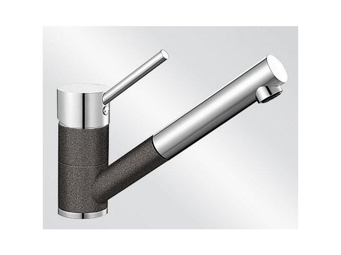 Kuchyňská vodovodní baterie Blanco ANTAS-S ND silgranit antracit/chrom lesk beztlaková 516772
