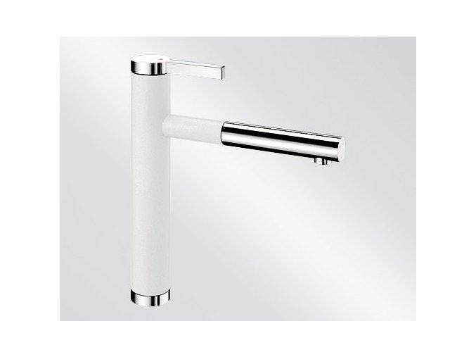Kuchyňská vodovodní baterie Blanco LINEE S silgranit bílá/chrom 518441V