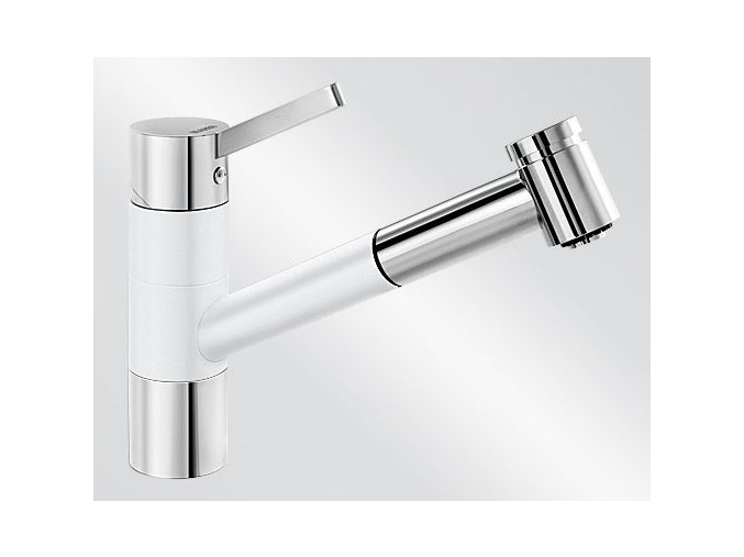 Kuchyňská vodovodní baterie Blanco TIVO-S HD silgranit bílá/chrom lesk 517613