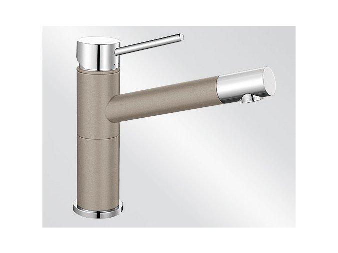 Kuchyňská vodovodní baterie Blanco ALTA Compact silgranit tartufo/chrom 517633