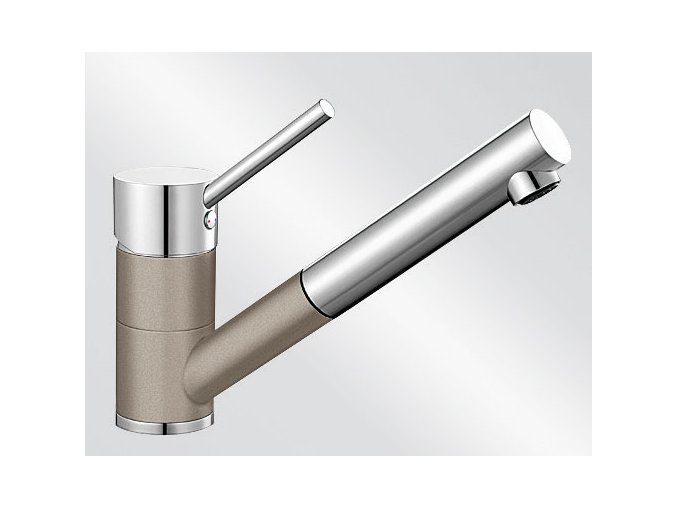 Kuchyňská vodovodní baterie Blanco ANTAS-S HD silgranit tartufo/chrom lesk 517637