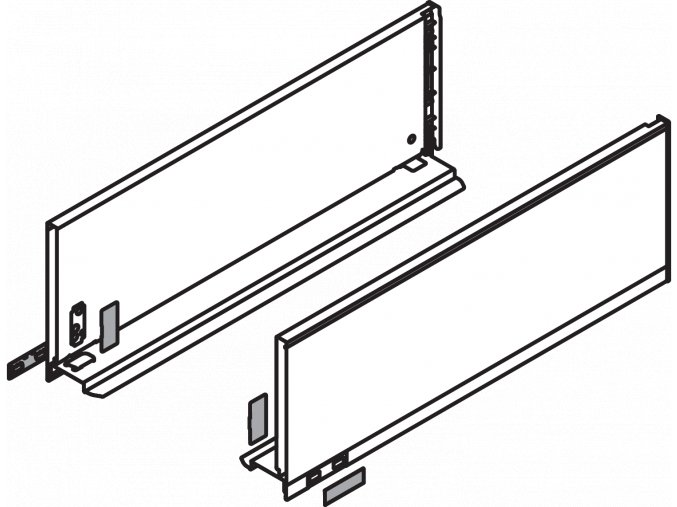 Bocnice C L+P 650 cerna LEGRABOX pure