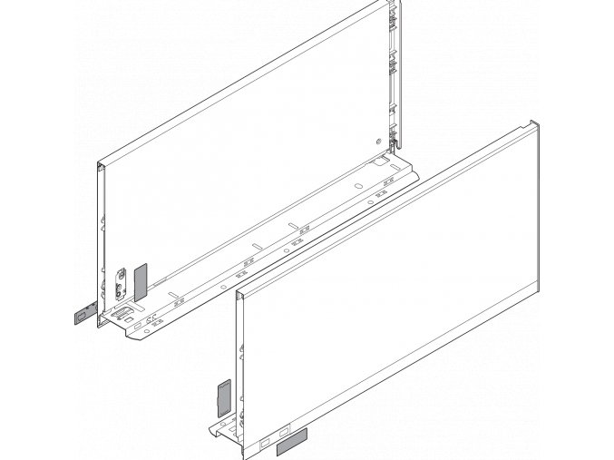 Bočnice F L+P 600 cerna LEGRABOX pure