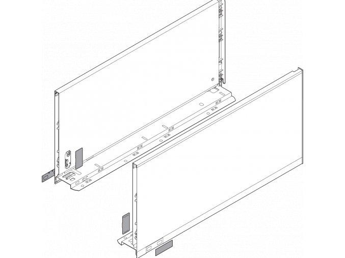 Bocnice F L+P 650 inox LEGRABOX pure