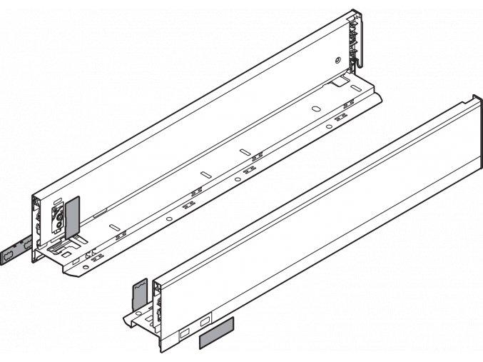 Bocnice M L+P 650 inox LEGRABOX pure