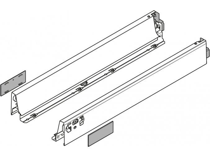 Bocnice N L+P 400 cerna LEGRABOX pure