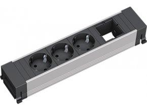 210 1 zasuvkova jednotka kratka 1x uziv modul 3x 230v 909 011