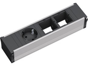 408 1 zasuvkova jednotka kratka 2x uziv modul 1x 230v 912 009