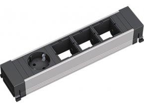 186 1 zasuvkova jednotka kratka 3x uziv modul 1x 230v 909 025
