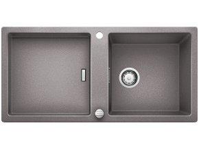 Granitový dřez Blanco ADON XL 6 S aluminium + dřevěná krájecí deska, nerez drát. koš a excentr 519619