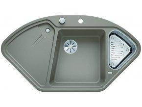 Granitový dřez Blanco DELTA II InFino tartufo + miska nerez pro vaničku a excentr 523666