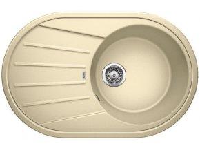 Granitový dřez Blanco TAMOS 45 S béžová champagne 521394  + Sanitární silikon + Designové masivní dřevěné krájecí prkénko z akácie