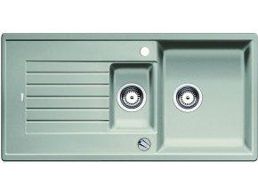 Granitový dřez Blanco ZIA 6 S perlově šedá s excentrem 520631  + Sanitární silikon + Designové masivní dřevěné krájecí prkénko z akácie