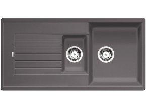 Granitový dřez Blanco ZIA 6 S šedá skála 518940  + Sanitární silikon + Designové masivní dřevěné krájecí prkénko z akácie