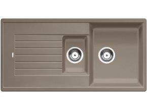 Granitový dřez Blanco ZIA 6 S tartufo 517419  + Sanitární silikon + Designové masivní dřevěné krájecí prkénko z akácie