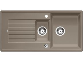 Granitový dřez Blanco ZIA 6 S tartufo s excentrem 517418  + Sanitární silikon + Designové masivní dřevěné krájecí prkénko z akácie