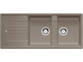 Granitový dřez Blanco ZIA 8 S tartufo 517422  + Sanitární silikon + Designové masivní dřevěné krájecí prkénko z akácie