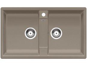 Granitový dřez Blanco ZIA 9 tartufo 517424  + Sanitární silikon + Designové masivní dřevěné krájecí prkénko z akácie
