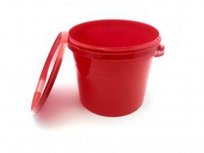 Plastovy kbelik s vikem 5l cerveny 3