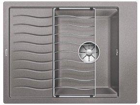 Granitový dřez Blanco ELON 45 S InFino aluminium + odkapávací rošt nerez 524826