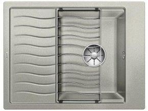 Granitový dřez Blanco ELON 45 S InFino perlově šedá + odkapávací rošt nerez 524827