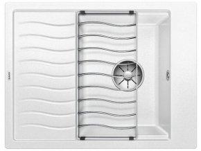 Granitový dřez Blanco ELON 45 S InFino bílá + odkapávací rošt nerez 524828