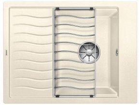 Granitový dřez Blanco ELON 45 S InFino jasmín + odkapávací rošt nerez 524829