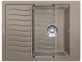 Granitový dřez Blanco ELON 45 S InFino tartufo + odkapávací rošt nerez 524831