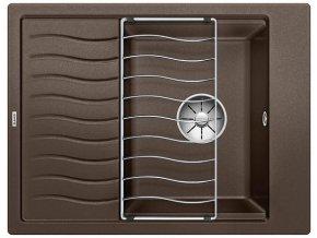 Granitový dřez Blanco ELON 45 S InFino káva + odkapávací rošt nerez 524833