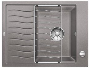 Granitový dřez Blanco ELON 45 S InFino aluminium + odkapávací rošt nerez a excentr 524816