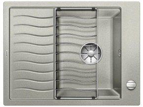 Granitový dřez Blanco ELON 45 S InFino perlově šedá + odkapávací rošt nerez a excentr 524817
